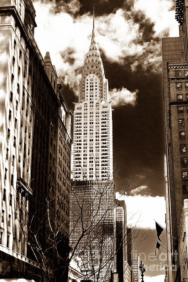 Vintage Chrysler Building Photograph - Vintage Chrysler Building by John Rizzuto