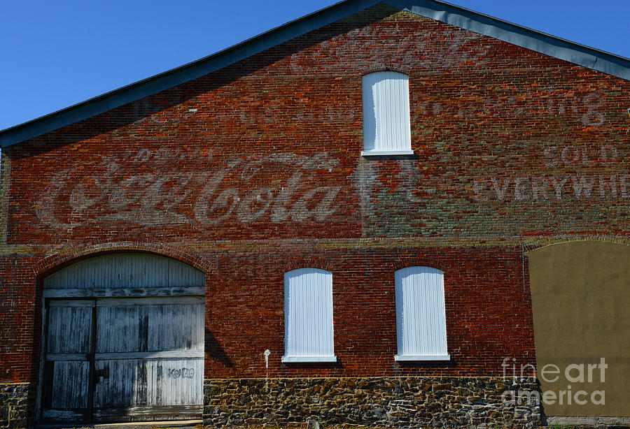 Vintage Coca Cola Ghost Sign Photograph  - Vintage Coca Cola Ghost Sign Fine Art Print