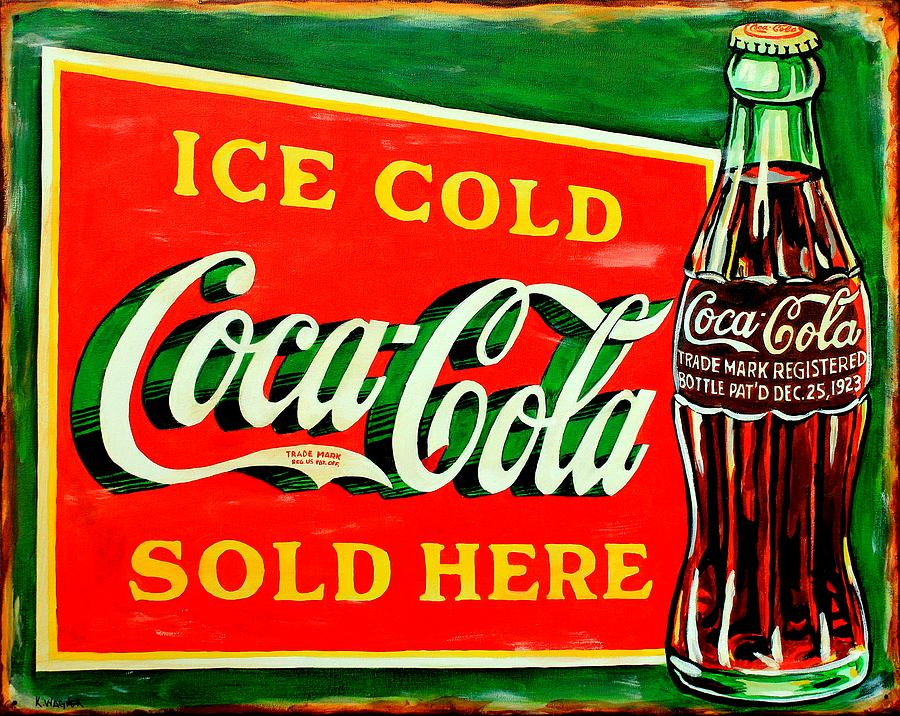 Signs Painting - Vintage Coca-cola Sign by Karl Wagner