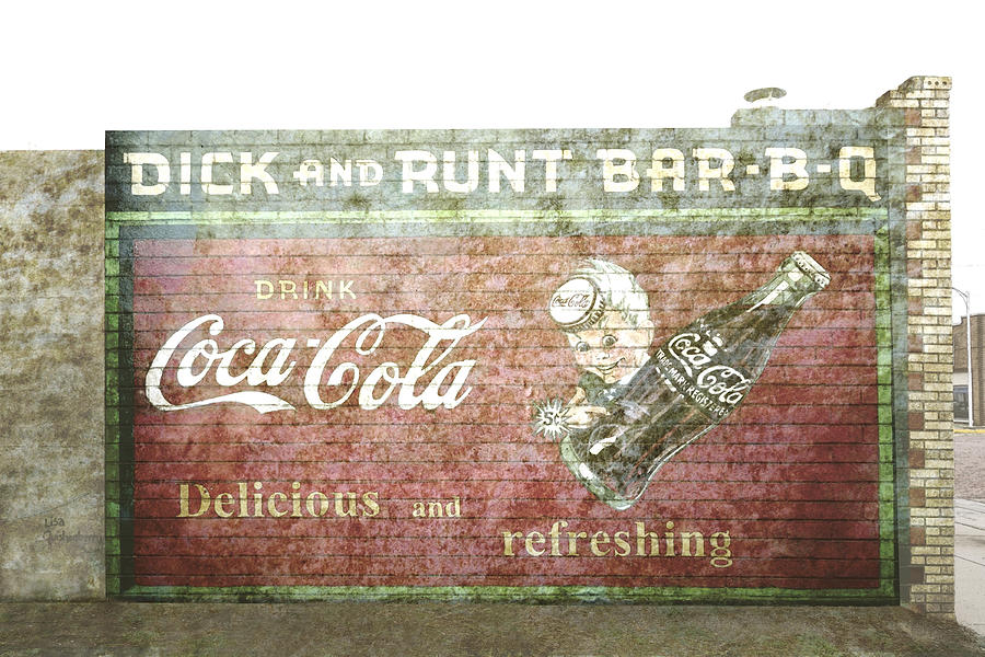 Vintage Cola Sign Mural II Photograph  - Vintage Cola Sign Mural II Fine Art Print
