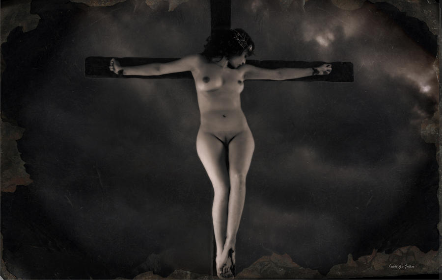 Vintage Crucifixion Photograph