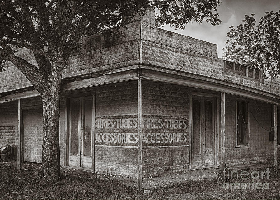 Vintage Dhanis Texas Business Photograph