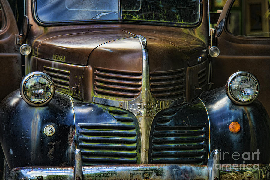 Transportation Photograph - Vintage Dodge by Mark Newman