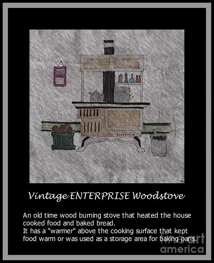 Vintage Enterprise Woodstove Drawing