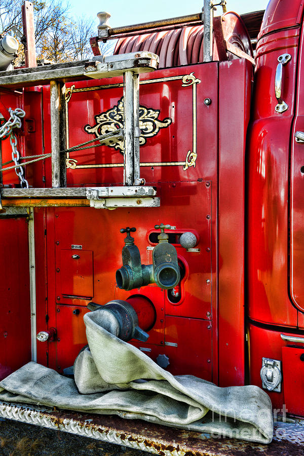 Vintage Fire Truck Photograph