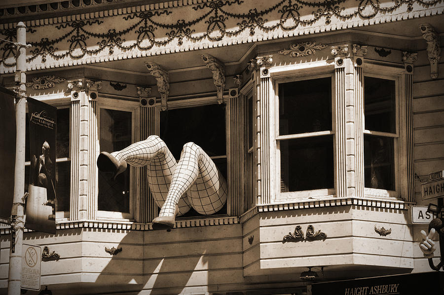 Vintage Haight And Ashbury San Francisco Photograph  - Vintage Haight And Ashbury San Francisco Fine Art Print