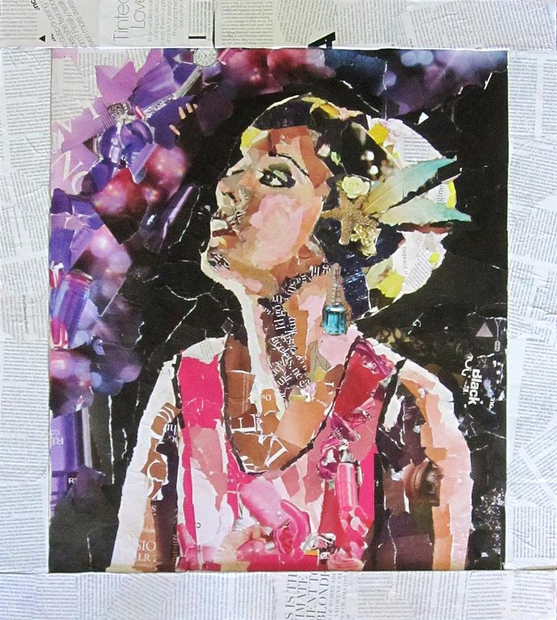 Collage Mixed Media - Vintage by Hannah Ostman