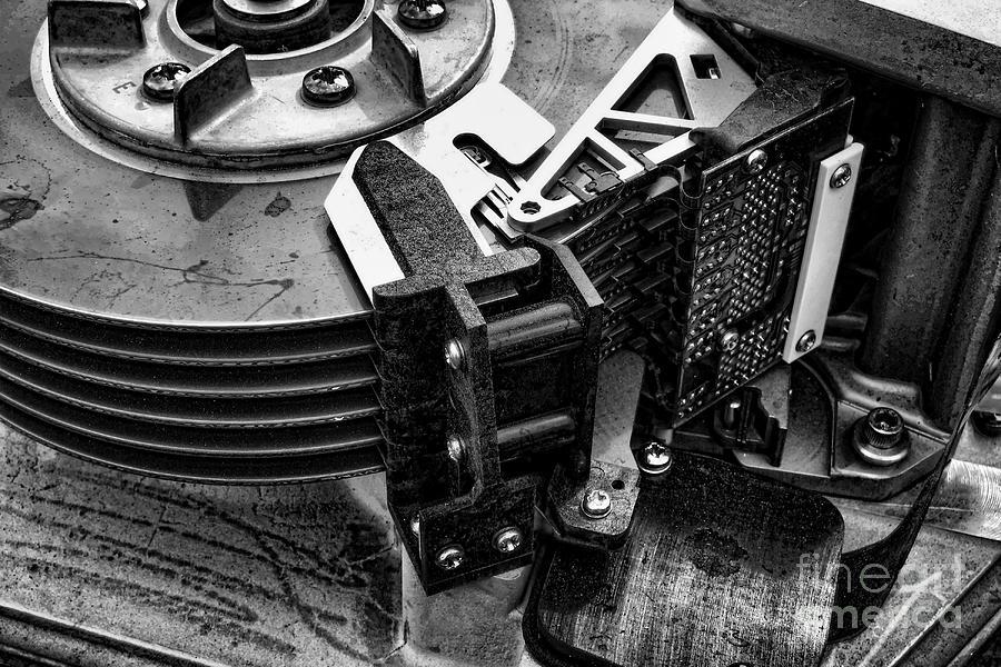 Vintage Hard Drive Photograph