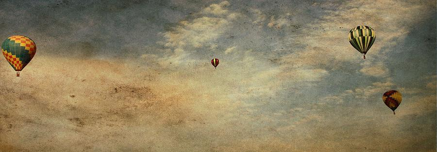 Vintage Hot Air Balloons Photograph - Vintage Hot Air Balloons by Dan Sproul