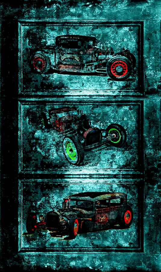 Vintage Hotrods Digital Art