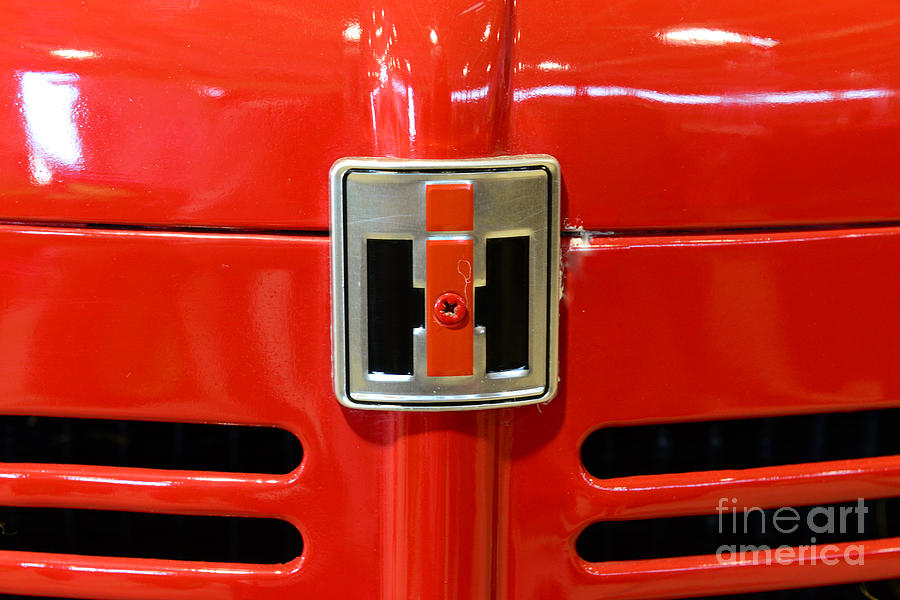 Paul Ward Photograph - Vintage International Harvester Tractor Badge by Paul Ward