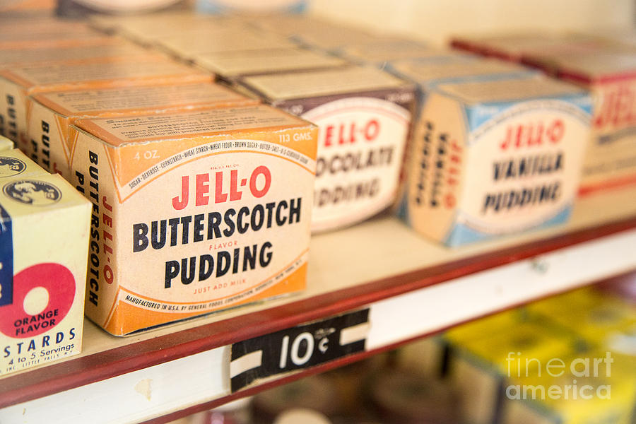 Vintage Jell-o Butterscotch Pudding Photograph  - Vintage Jell-o Butterscotch Pudding Fine Art Print