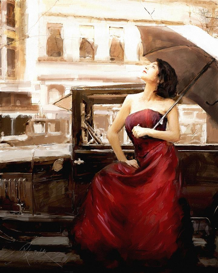 Vintage Lady Painting
