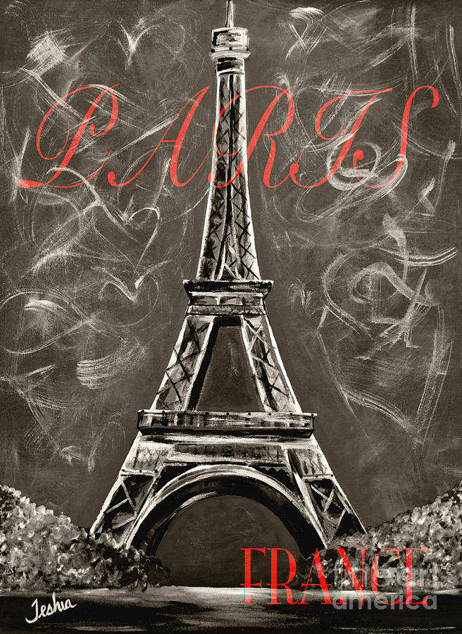 Vintage Lamour A Paris Painting
