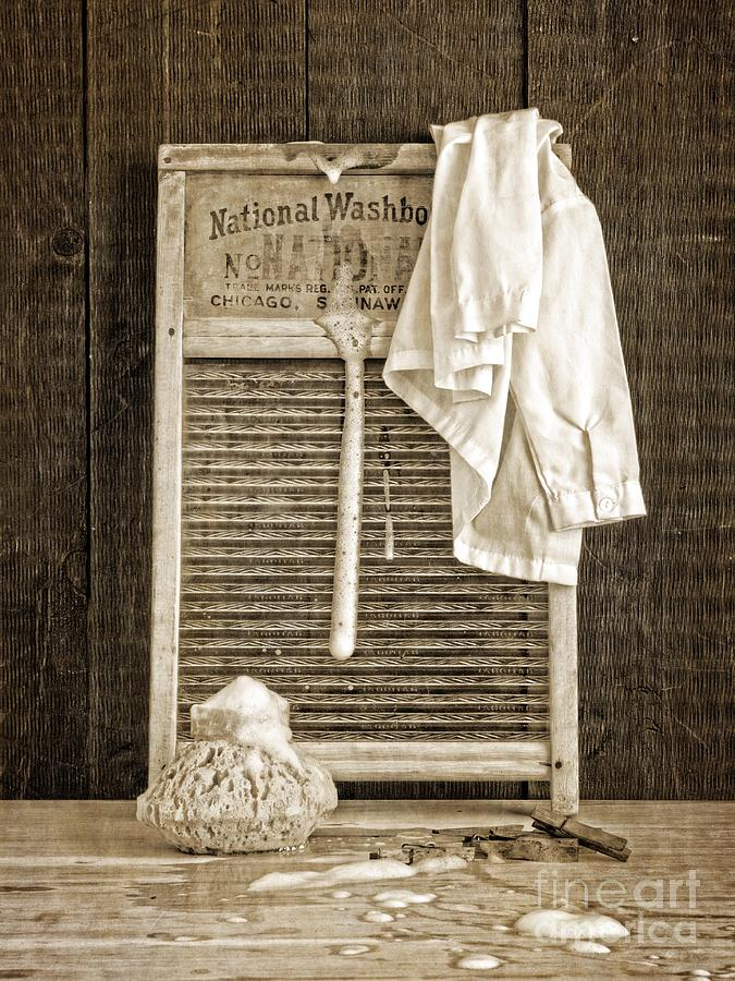 Vintage Laundry Room Photograph by Edward Fielding - Vintage