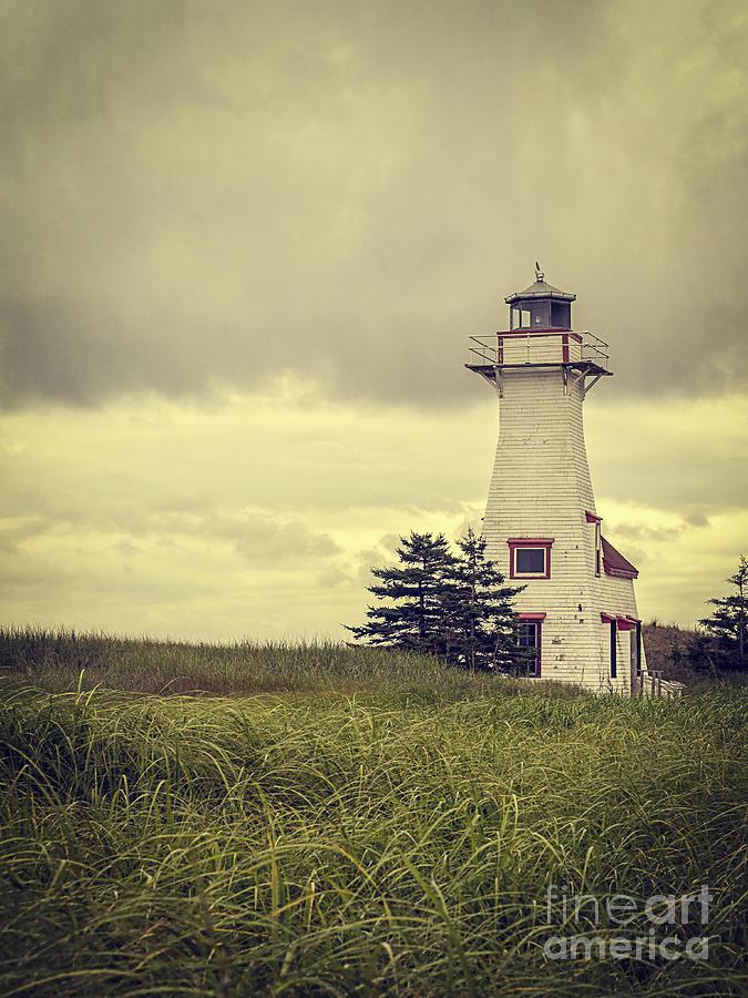 Vintage Lighthouse Pei Photograph