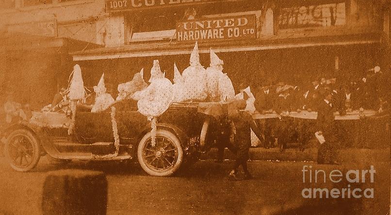 Vintage Mardi Gras Parade On Canal Street Circa 1920s Photograph