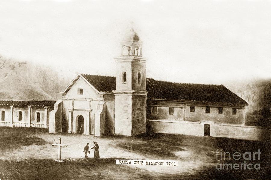 Curtains Ideas santa shower curtain : Mission Photograph - Vintage Mission Santa Cruz California Circa 1850 ...