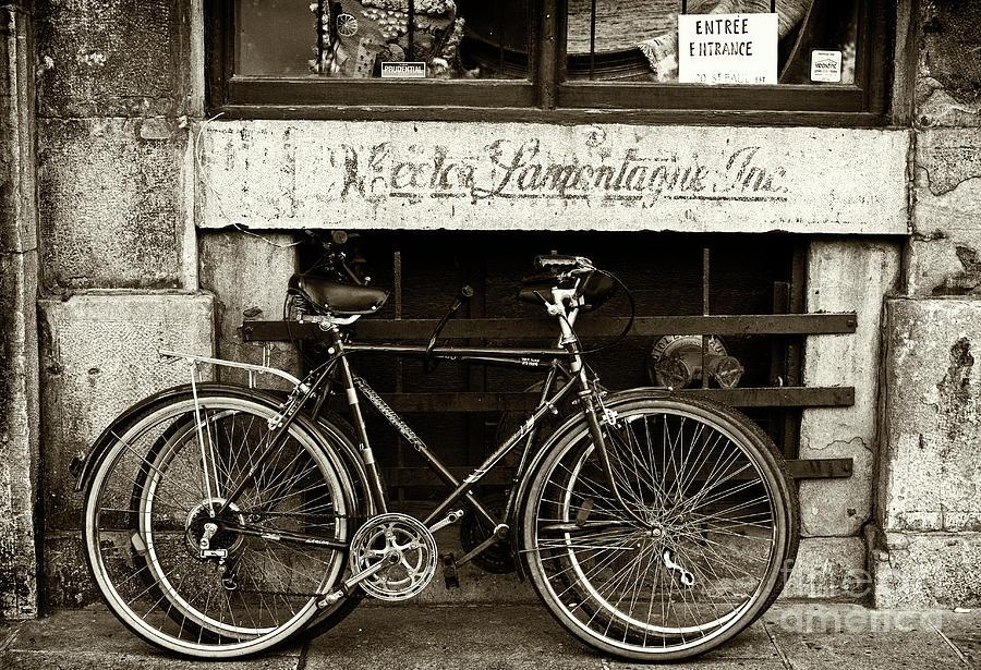 Vintage Montreal Bikes Photograph