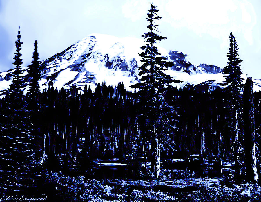 Vintage Mount Rainier Early 1900 Era... Photograph