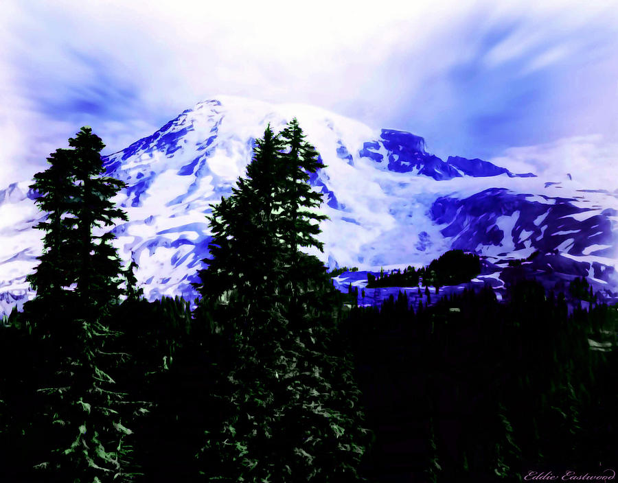 Vintage Mount Rainier From Pinnacle Peak Early 1900 Era... Photograph  - Vintage Mount Rainier From Pinnacle Peak Early 1900 Era... Fine Art Print