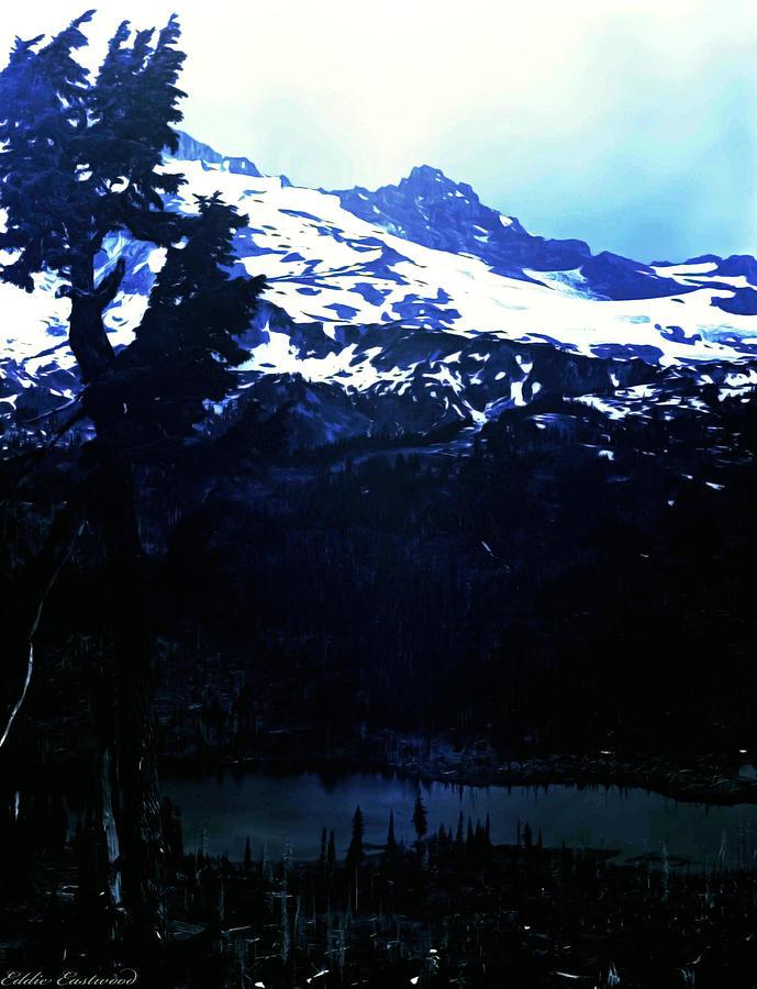 Landscape Photograph - Vintage Mount Rainier With Reflexion Lake Early 1900 Era... by Eddie Eastwood