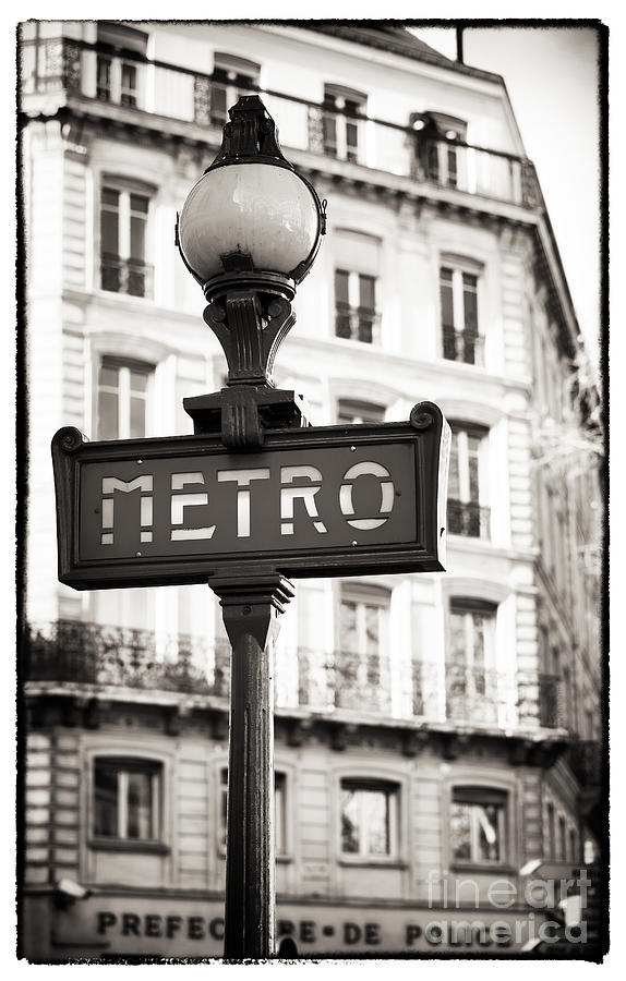 Vintage Paris Metro Photograph