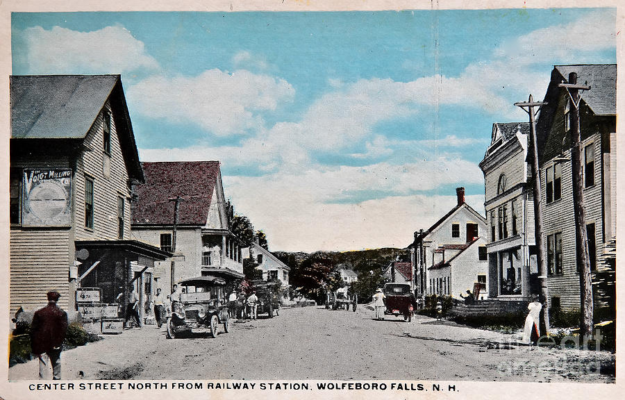 Vintage Postcard Of Wolfeboro New Hampshire Digital Art  - Vintage Postcard Of Wolfeboro New Hampshire Fine Art Print