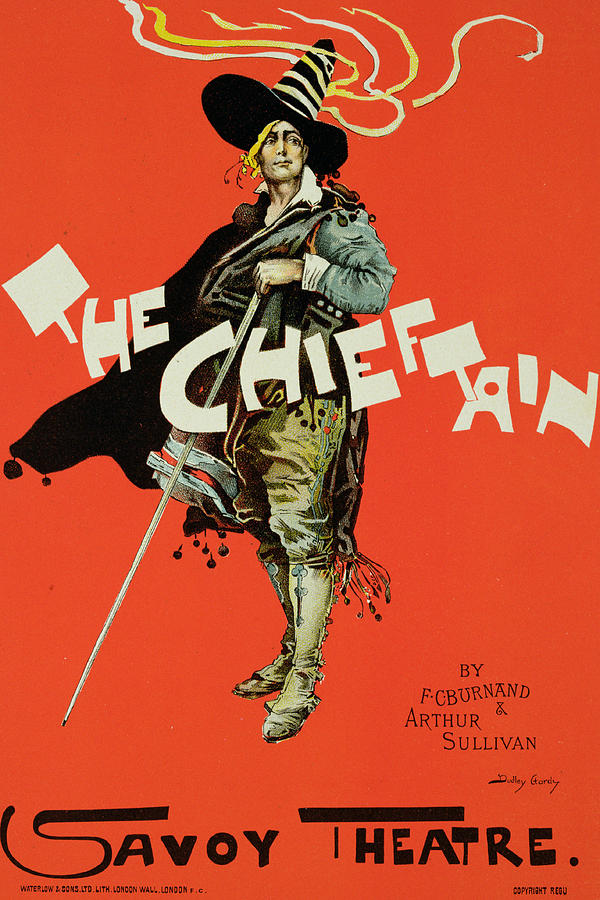 Vintage Poster For The Chieftain At The Savoy Drawing