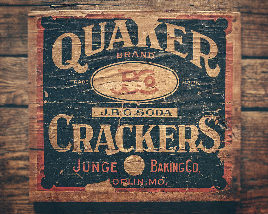Vintage Quaker Crackers For The Kitchen Photograph