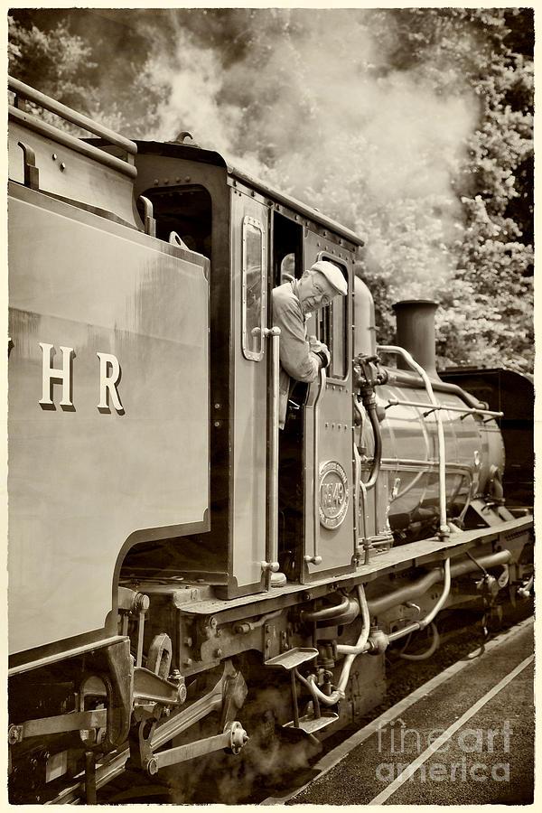Antique Photograph - Vintage Railway by Jane Rix