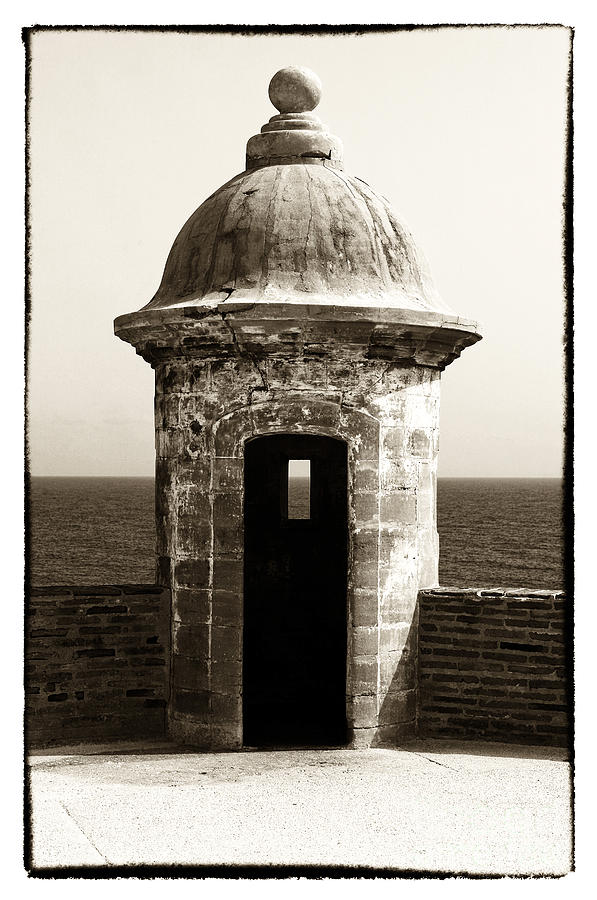 Vintage San Juan Guard Tower Photograph by John Rizzuto
