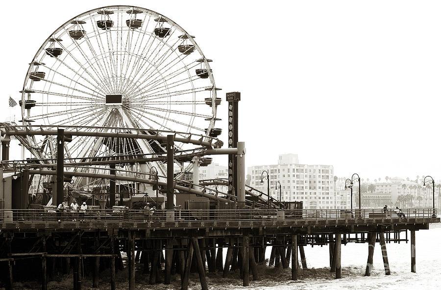 Vintage Santa Monica Pier Photograph - Vintage Santa Monica Pier by John Rizzuto