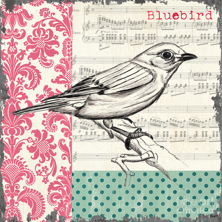 Vintage Songbird 1 Painting