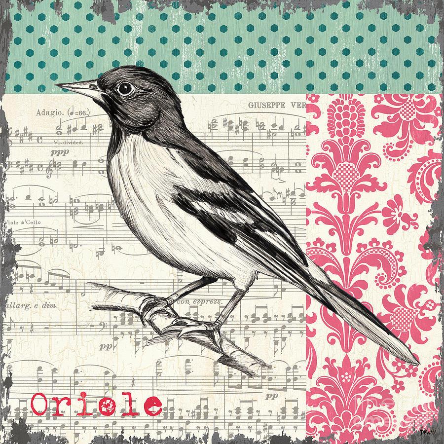 Bird Painting - Vintage Songbird 2 by Debbie DeWitt