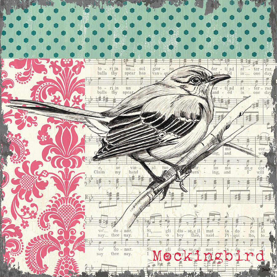 Vintage Songbird 4 Painting