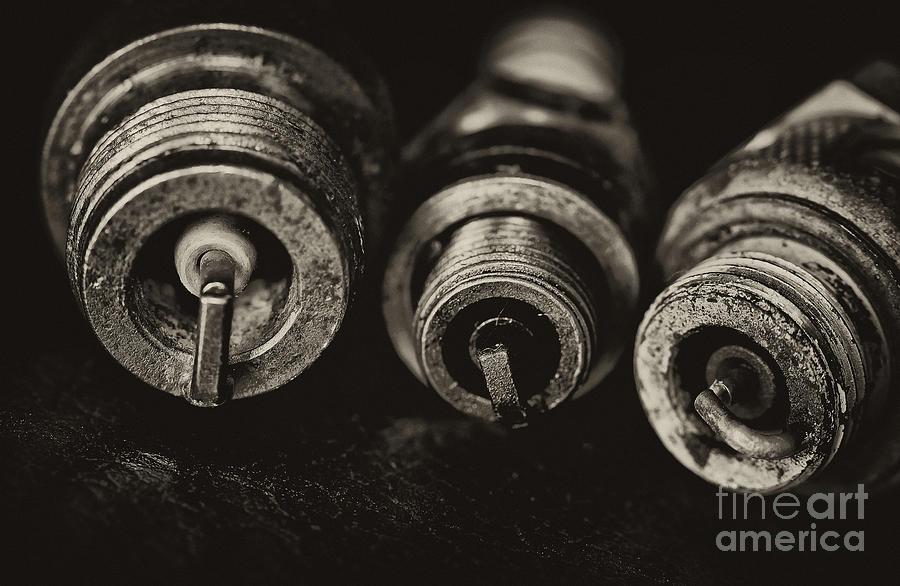 Vintage Spark Plugs  Photograph