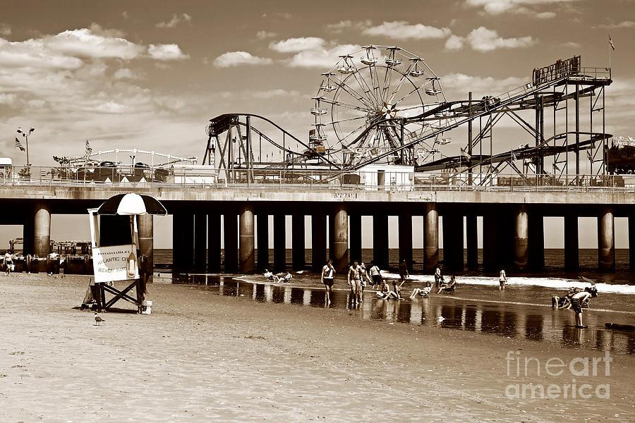 Vintage Steel Pier Photograph