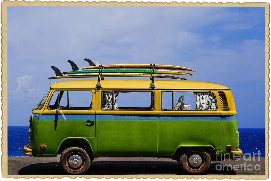 Vintage Surf Van is a photograph by Diane Diederich which was uploaded ...