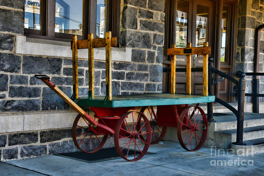 Vintage Train Baggage Wagon Photograph  - Vintage Train Baggage Wagon Fine Art Print