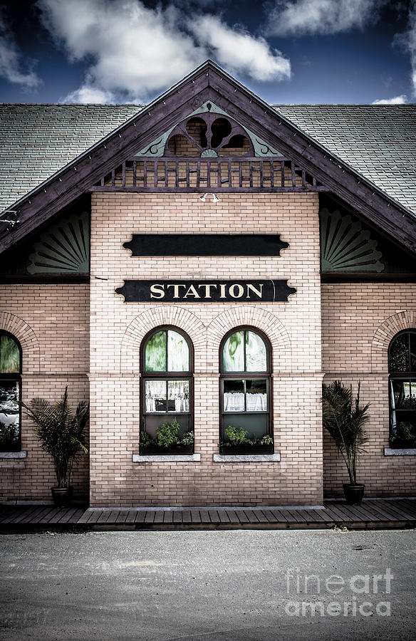 Vintage Train Station Photograph