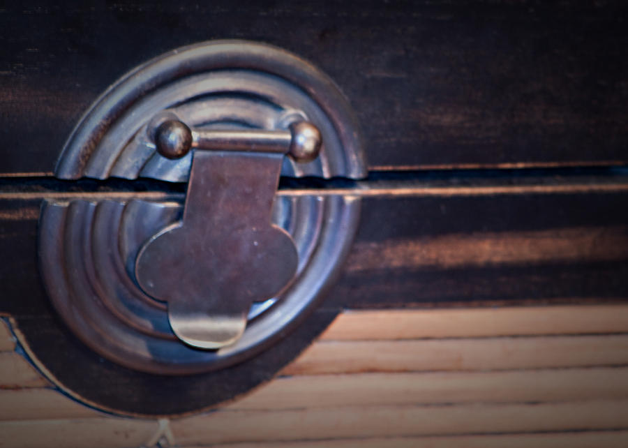 Vintage Trunk Latch Photograph  - Vintage Trunk Latch Fine Art Print