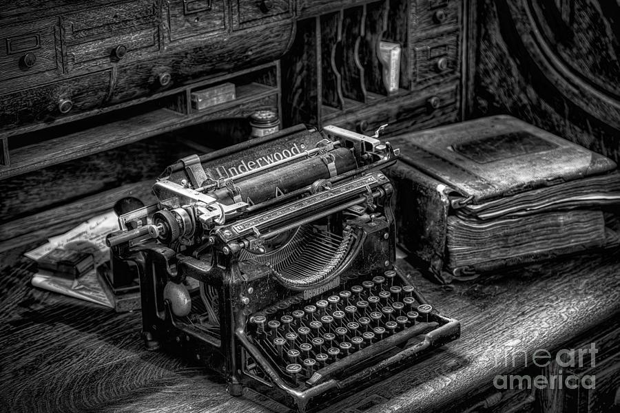 Typewriter Photograph - Vintage Typewriter by Adrian Evans