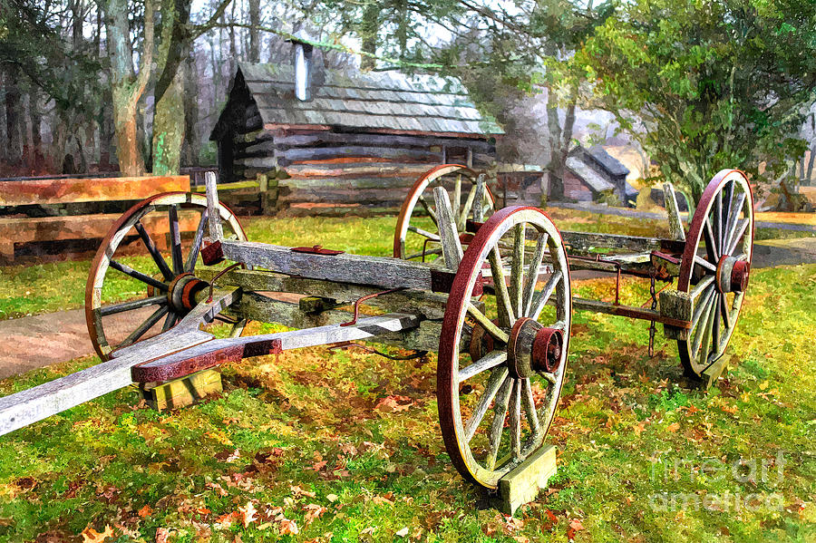 Vintage Wagon On Blue Ridge Parkway I Photograph