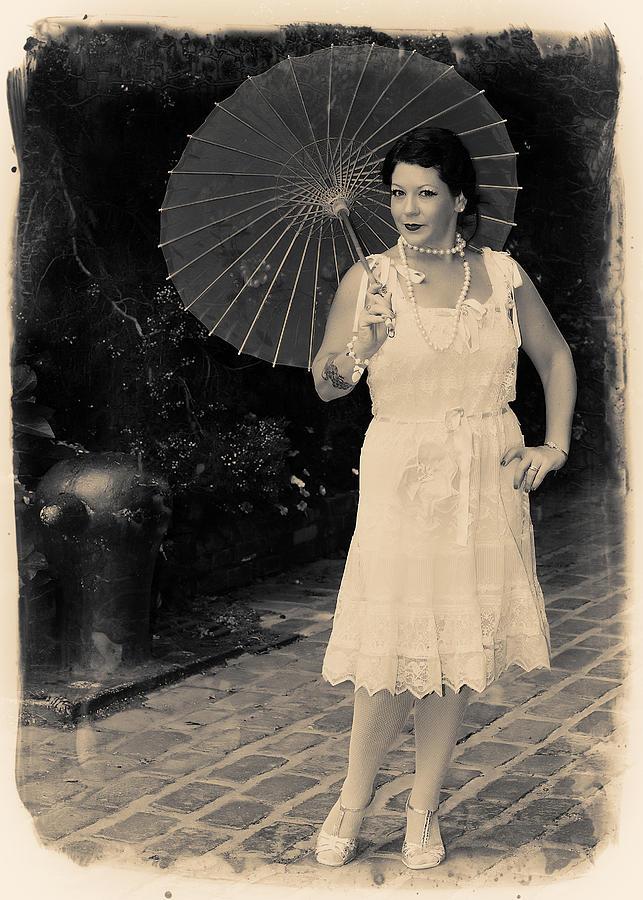 Vintage Photograph - Vintage Woman by Jim Poulos