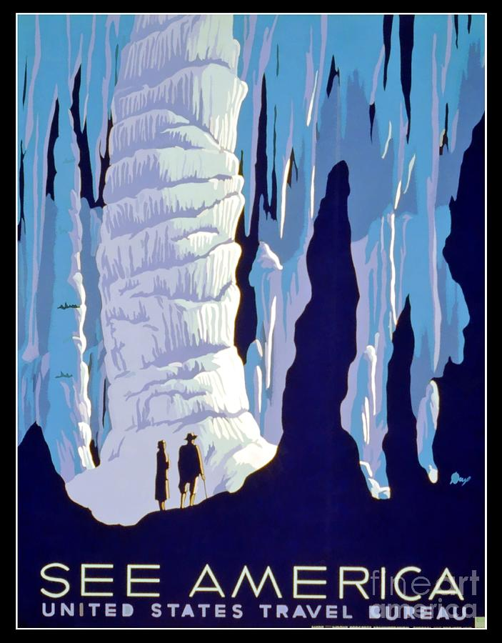 Vintage Wpa Poster See America Photograph