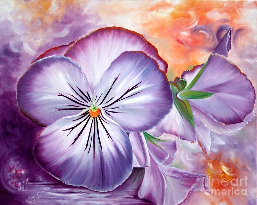 Viola Tricolor Painting