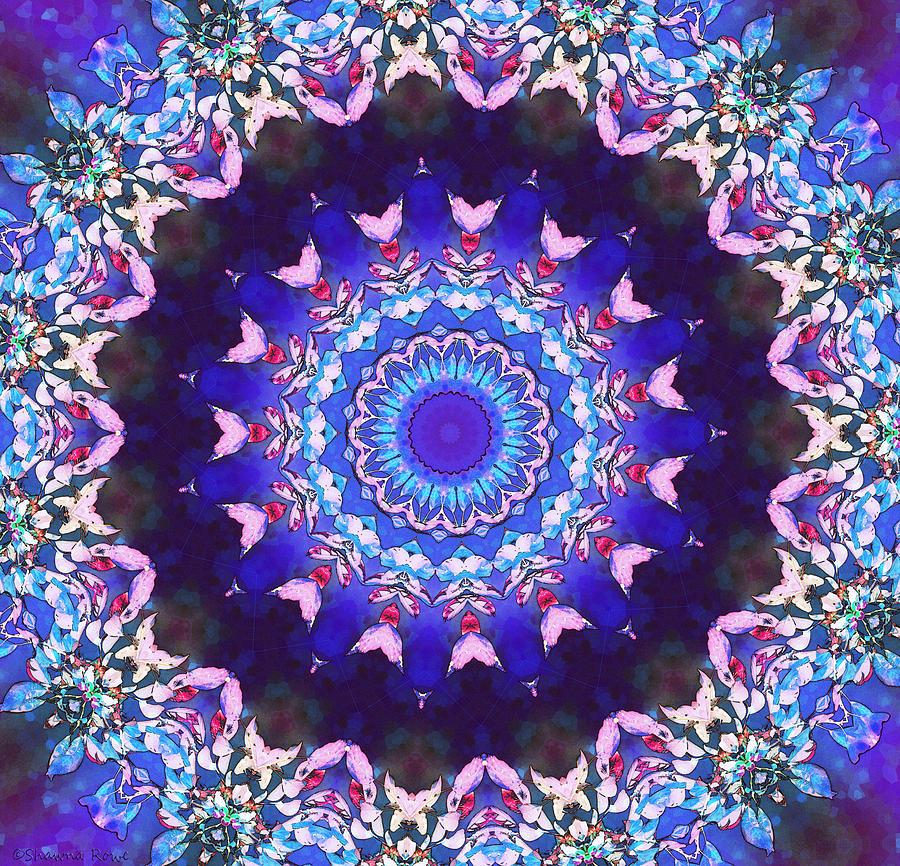 Violet Lace Digital Art