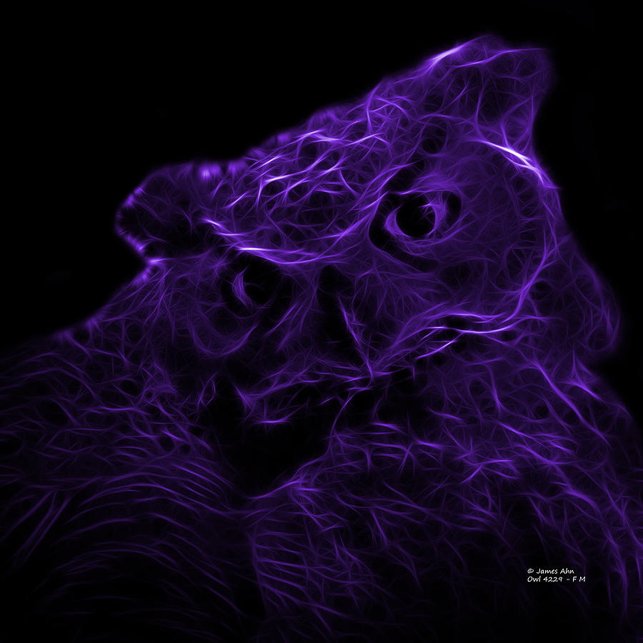Violet Owl 4229 - F M Digital Art