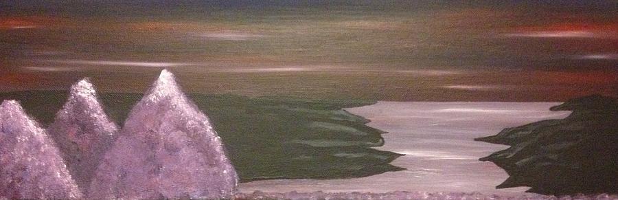 Landscape Painting - Violet Sea by Scott Wilmot